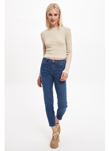 DeFacto Basic Slim Fit Jean Pantolon Mavi